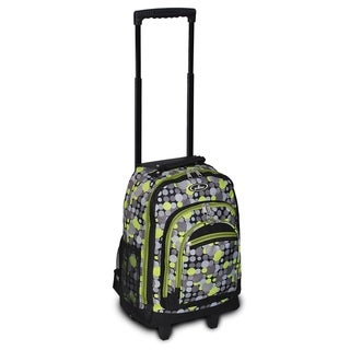 Everest 18-inch Yellow and Gray Polka Dot Rolling Backpack
