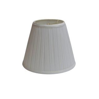 square cut corner round top off white silk lamp shade 13696496. Black Bedroom Furniture Sets. Home Design Ideas