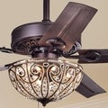 Catalina 3-light Bronze-finished 5-blade 48-inch Crystal Ceiling Fan