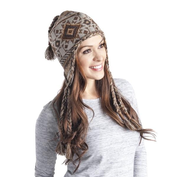 Women's Geometric Tassel Helmet