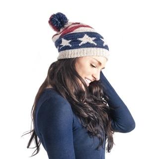 Muk Luks Women's Americana Pom Beanie