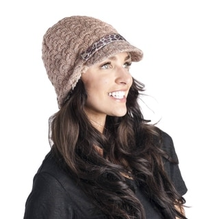 MukLuks Women's Textured Visor Hat