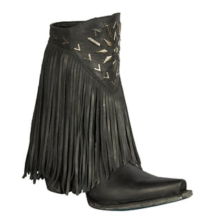 "Lane Boots ""Fringe It"" Women's Leather Cowboy Boot Black"