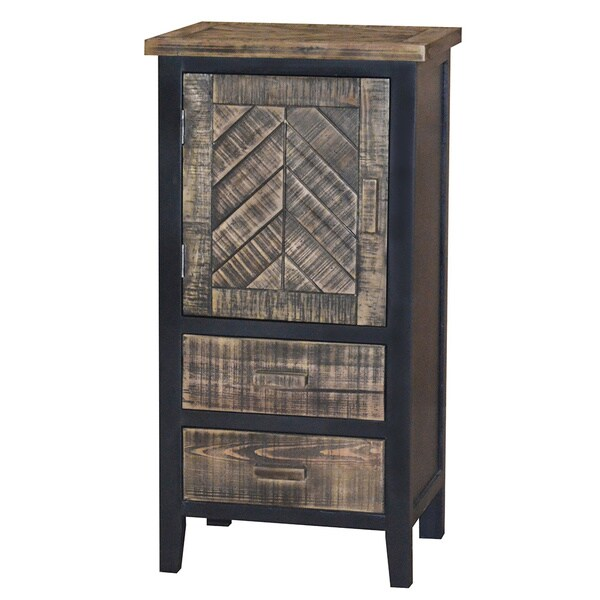 Gallerie Decor Wovenwood Drawer and Door Cabinet