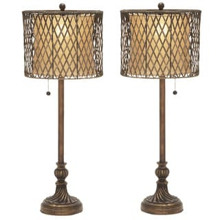 Parisian Handcrafted Polystone Table Lamp - Set of 2