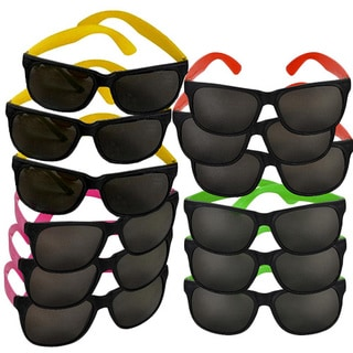 Kids Neon 80's Style Party Sunglasses (Pack of 12)