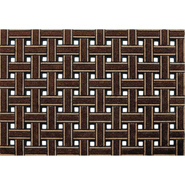 Outdoor Weave Brown Doormat (2' x 3')