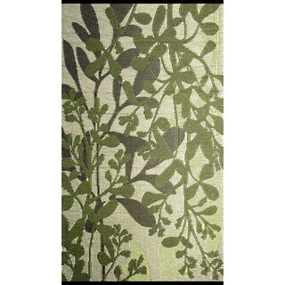 b.b.begonia Frisco Reversible Design Green and Brown Outdoor Area Rug (5' x 8')