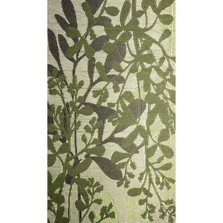 b.b.begonia Frisco Green and Brown Outdoor Reversible Area Rug (6' x 9')