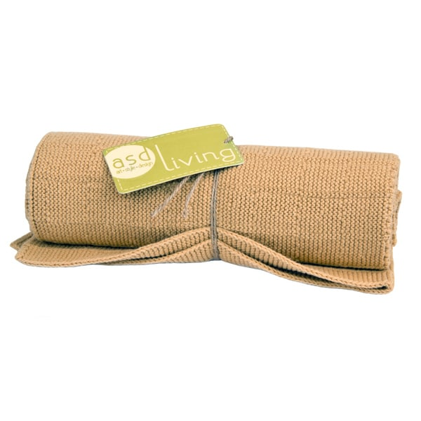 100-percent Cotton Mustard Knitted Kitchen Towel