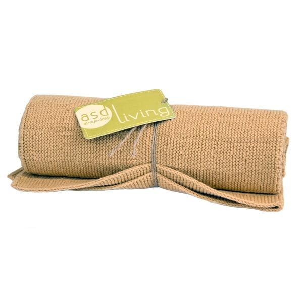 100-percent Cotton Mustard Knitted Kitchen Towel