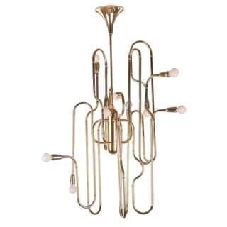 Hans Andersen Home Trombone Chandelier