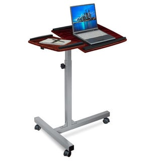 Merax Height Adjustable Laptop Desk/Stand, Cherry Finish
