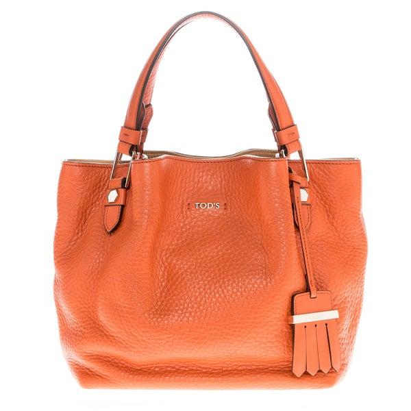 Tod's Mini Flower Bag Orange