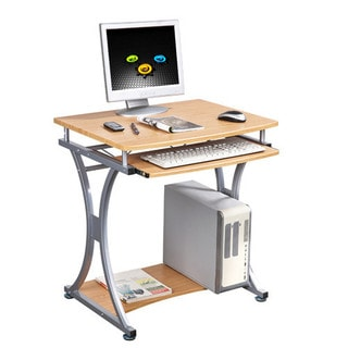 Merax Office/Home Compact Computer Desk, Light Oak Finish (S-328)