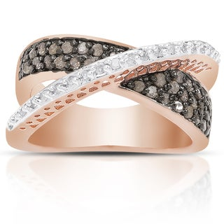 Finesque 1/2ct TDW Black and White Diamond Ring