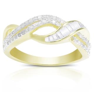 Finesque 1/5 ct TDW Diamond Infinity Design Ring