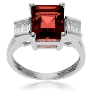 Journee Collection Sterling Silver Garnet and Topaz Ring