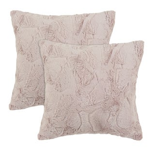 Luxe Blush 17-inch Throw Pillows (set of 2)