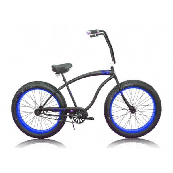 Micargi Slugo Unixex 26-inch Black/ Blue Fat Tire Beach Cruiser Bike