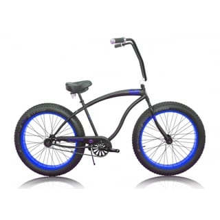 Micargi Slugo Unixex 26-inch Black/ Blue Fat Tire Beach Cruiser Bike