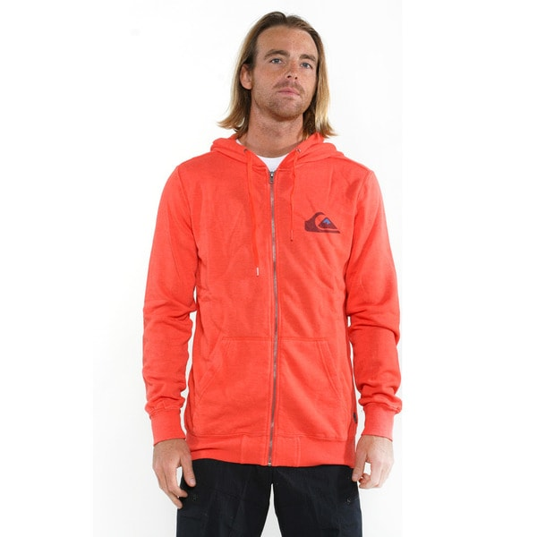 Quicksilver Men's Red Duff Full zip Sweatshirt
