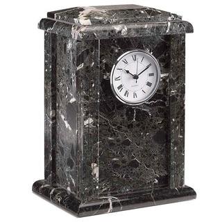 Elegante Black Grain Genuine Marble Tower Urn