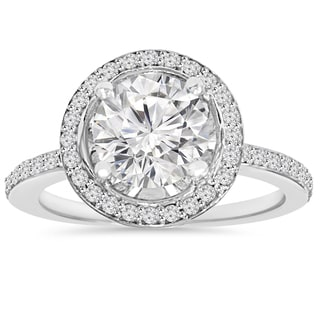 14k White Gold 2.25 ct TDW Clarity Enhanced Diamond Round Engagement Wedding Ring (H-I ,I1-I2