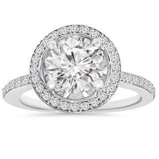 14k White Gold 2 1/ 8 ct TDW Clarity Enhanced Diamond Round Engagement Wedding Ring (I-J ,I2-I3