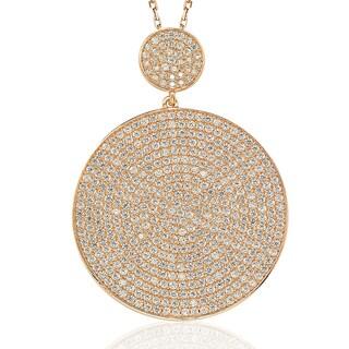 Suzy Levian Rose Sterling Silver Cubic Zirconia Pendant