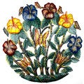 24-inch Painted Colorful Flower Garden Metal Wall Art (Haiti)