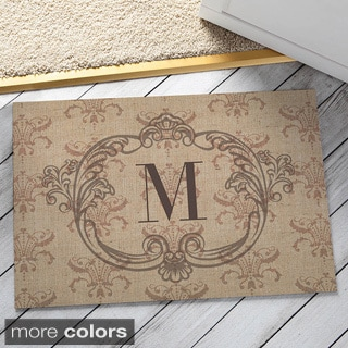 Vintage Initial Personalized Doormat