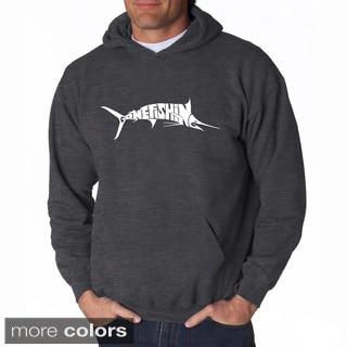 LA Pop Art Men's Gone Fishin' - Marlin Hooded Sweatshirt