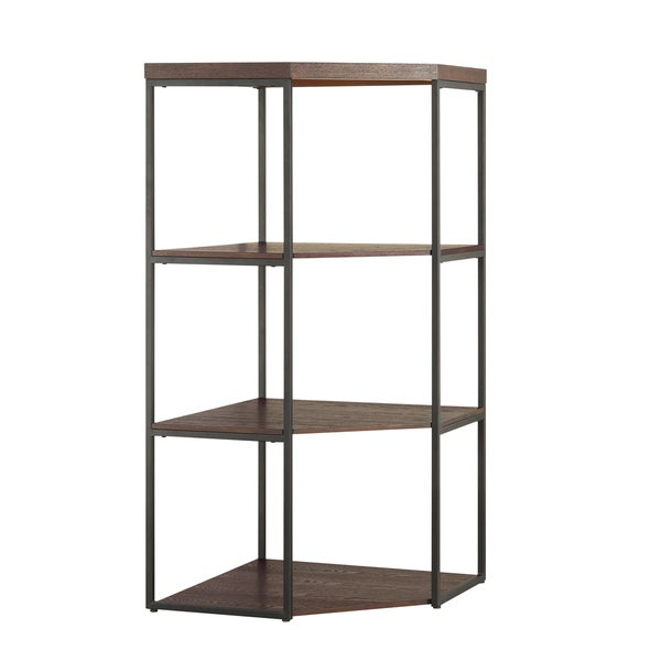 Christopher Knight Home Industrial Wood Corner Tower