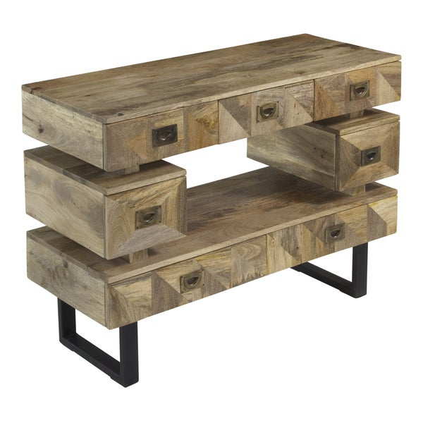 Christopher Knight Home Natural Mango Seven Drawer Media Console