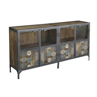 Christopher Knight Home Iron and Mango Four Door Sideboard