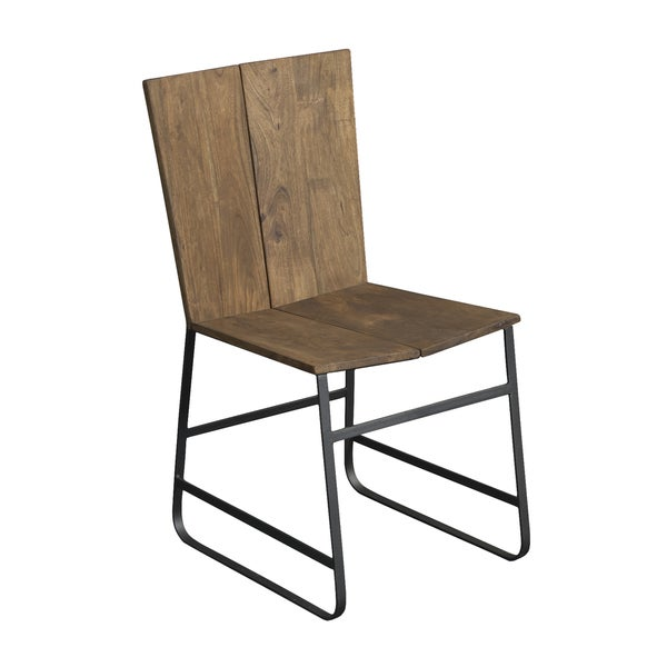 Christopher Knight Home Wood and Iron Dining Chair (Set of 2)