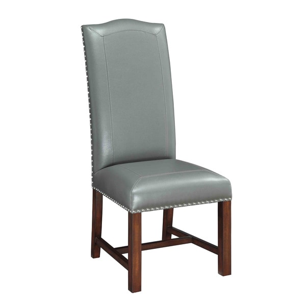 Christopher Knight Home Grey Bonded Leather Dining Chair (Set of 2)