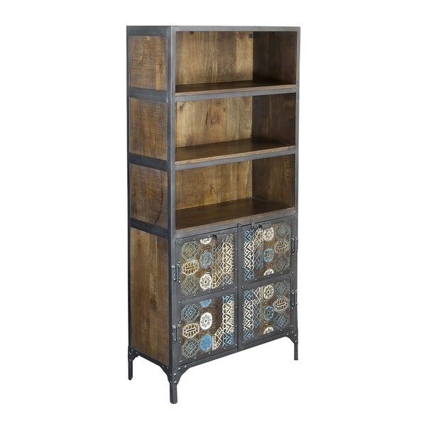 Christopher Knight Home Iron and Mango Two Door Tall Cabinet
