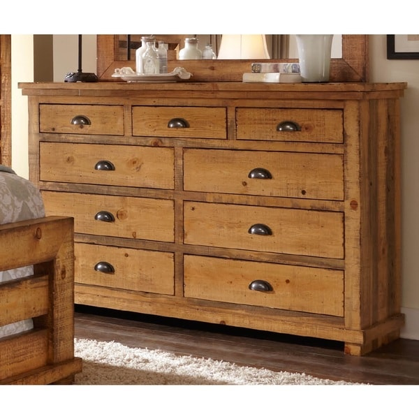Willow Pine Distressed Drawer Dresser