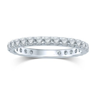 Unending Love 14k White Gold 1ct TDW Prong-set Diamond Eternity Band (H-I, I1-I2)