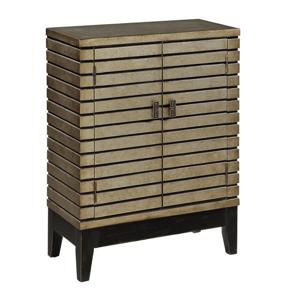 Christopher Knight Home Open Slat Two Door Cabinet