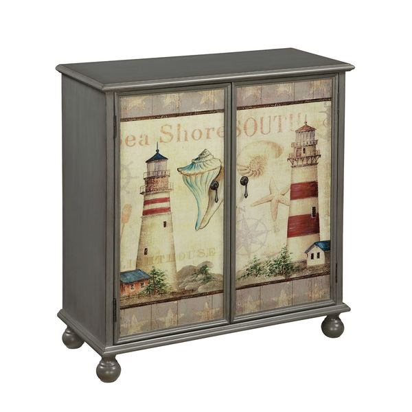 Christopher Knight Home Beach Themed Two Door Cabinet