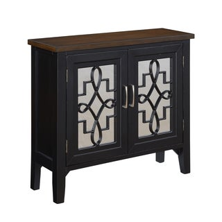 Christopher Knight Home Black Two Door Cabinet