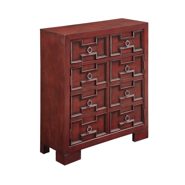 Christopher Knight Home Red Two Door One Drawer Cabinet
