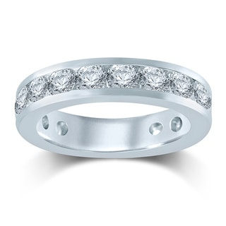 Unending Love 14k White Gold 3ct TDW Diamond Eternity Band (H-I, I1-I2)