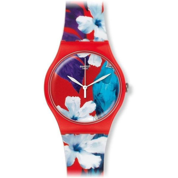 Swatch Unisex SUOR105 'Mister Parrot' Colorful Silicone Watch