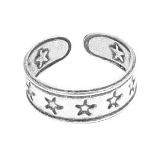 Lucky Stars Surrounded .925 Silver Toe or Pinky Ring (Thailand)
