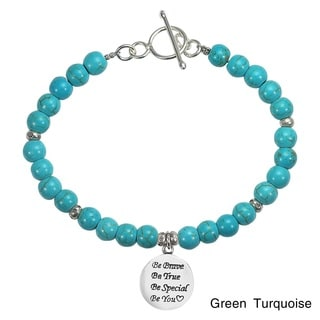 'Be You' Special Inspirational .925 Silver Stone Bracelet (Thailand)