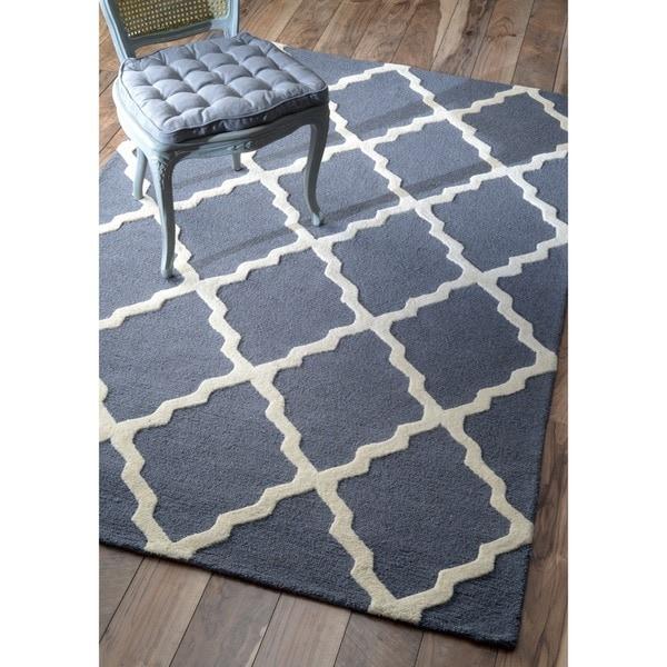 NuLOOM Hand-hooked Alexa Moroccan Trellis Wool Rug (5' X 8